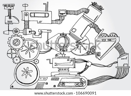Mechanism Hand Drawn