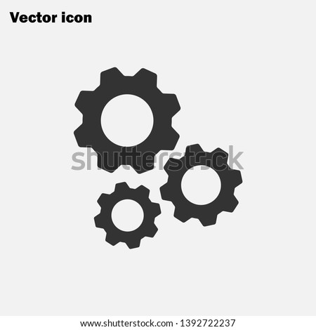 Mechanism icon vector, Gear sign