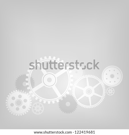 Mechanism on Grey Gradient Background. Vector Illustration. EPS 10.