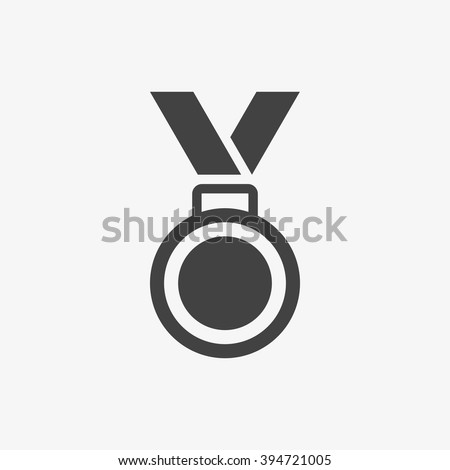 Medal Icon in trendy flat style isolated on grey background. Medal symbol for your web site design, logo, app, UI. Vector illustration, EPS10. Stockfoto ©
