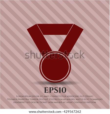 medal icon vector symbol flat eps jpg app web concept website