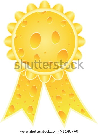 medal made of cheese