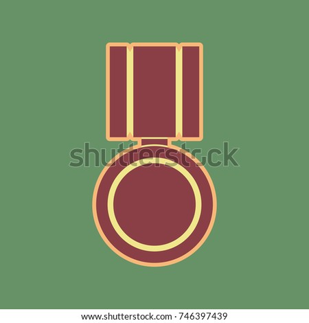 medal sign illustration vector