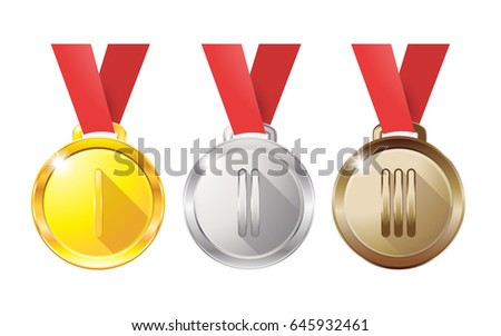 medals gold silver bronze