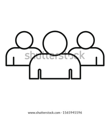 Media audience icon. Outline media audience vector icon for web design isolated on white background