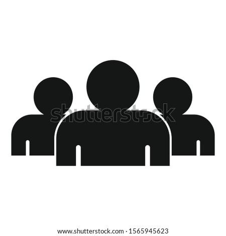 Media audience icon. Simple illustration of media audience vector icon for web design isolated on white background