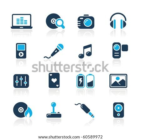 Media & Entertainment Web Icons // Azure Series