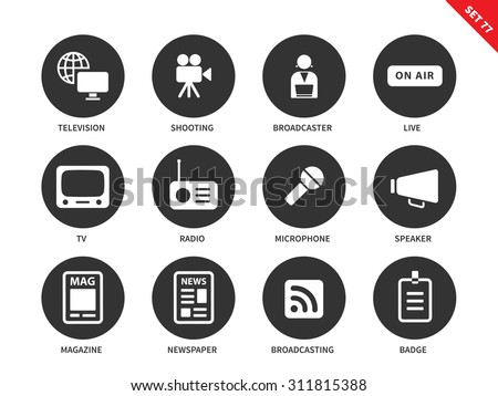 media equipment vector icons