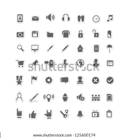 Media Icon set ( Set of 50 Quality icons ) 2