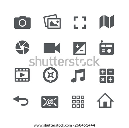 media icons    apps interface
