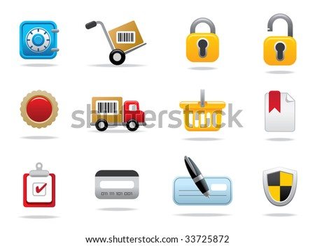Media Icons - editable vector illustrations - stock vector