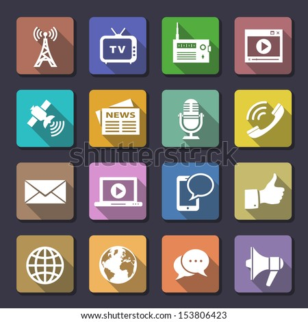 Media Icons. Flaticons series. Vector illustration