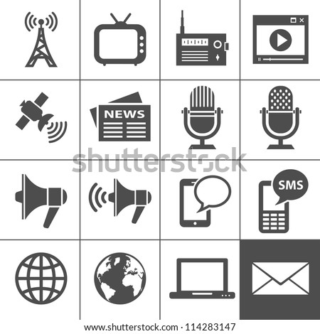 Media Icons. Simplus series. Each icon is a single object (compound path) Stock photo ©