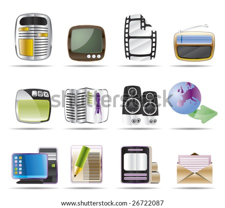 Media icons - Vector Icon Set