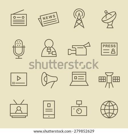media line icon set