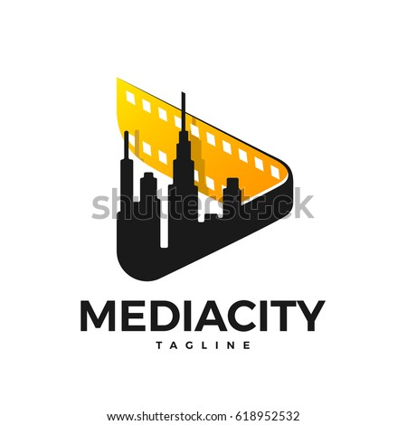media logo in the form of a