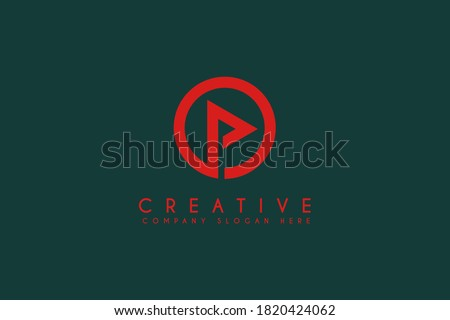 Media Play video button with circle logo design vector illustration