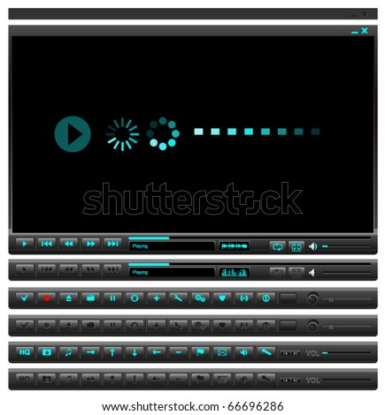 Media player button set
