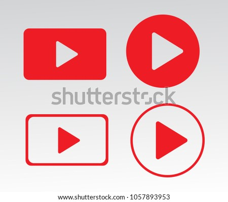 Media player buttons vector eps 10 #1057893953