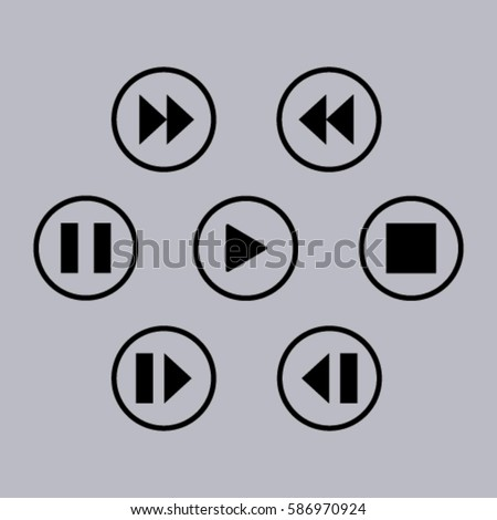 media player control button