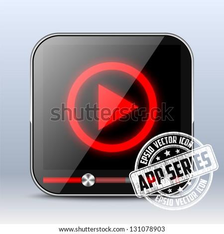 Media Player Icon. App Series - stock vector
