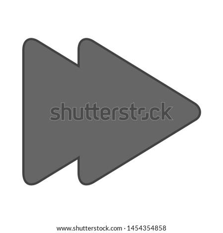 Media player icon. flat illustration of Media player. vector icon. Media player sign symbol