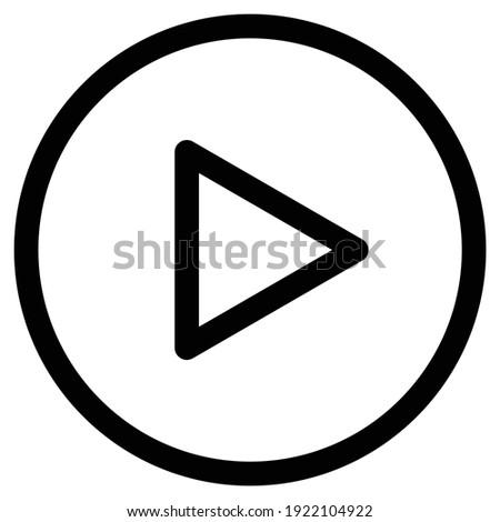 Media Player Icon, Play Button Icon, Icon media play, Media Player icons in circle isolated, Play Icon, Player Button, Multimedia, Digital web vector