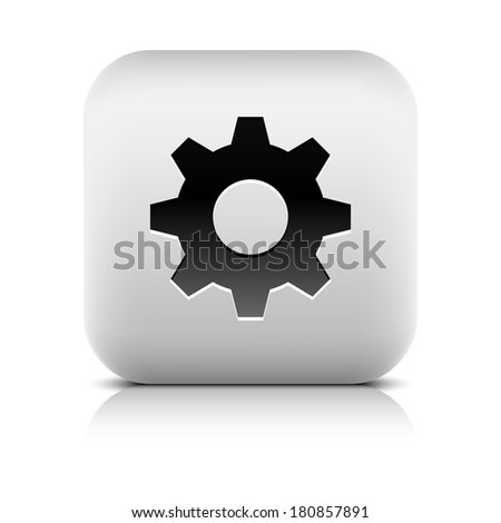 media player icon with cog