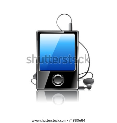 Media player. Vector