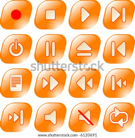 Media player vector iconset.