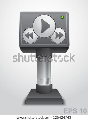 Media player. Vector illustration