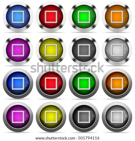 media stop color glass buttons