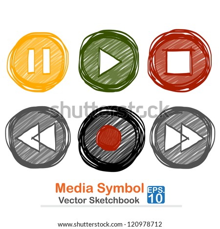 Media symbol : vector sketchbook