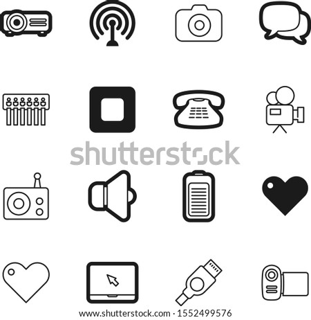 media vector icon set such as: style, chat, speaker, touch, fuel, gateway, bubble, forum, balloon, lens, pc, signal, call, entertainment, networking, photographic, antique, website, art, objective