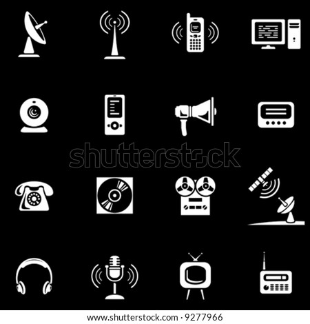 Media - Vector Icons Set  You'll find more icons in my portfolio