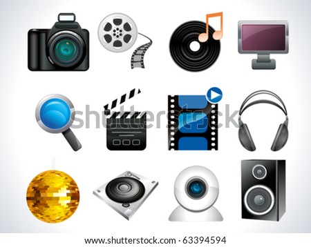 media web icon set vector illustration