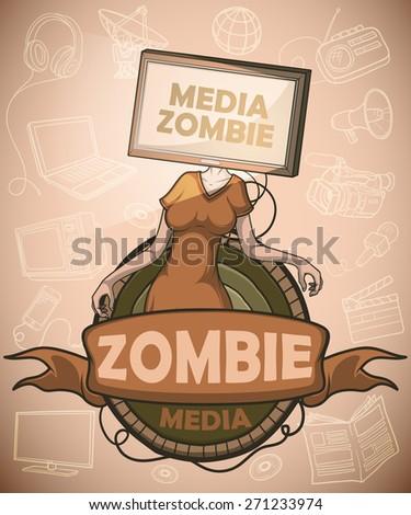media zombie women with flat