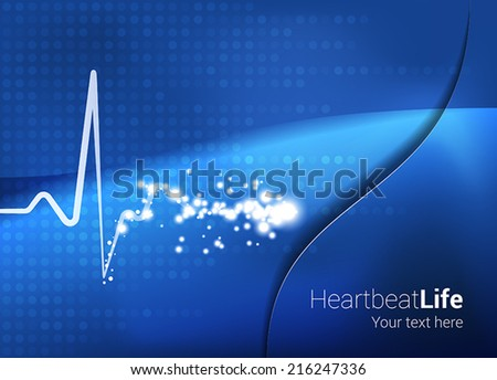 medical abstract heartbeat