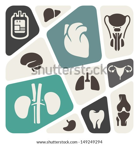 Medical and anatomy theme background