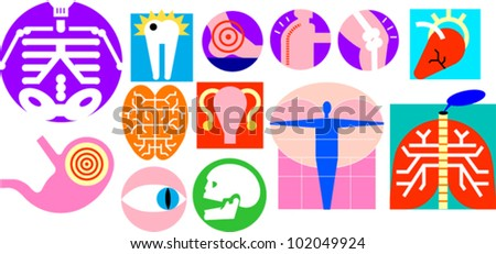 medical and body part icons