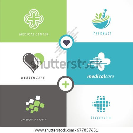 Medical and health care collection of creative logos, symbols and icons. Medicine and pharmacy modern logo design concepts with fresh and unique ideas.