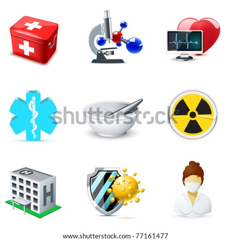 Medical and health care icons | Bella series 2 - stock vector