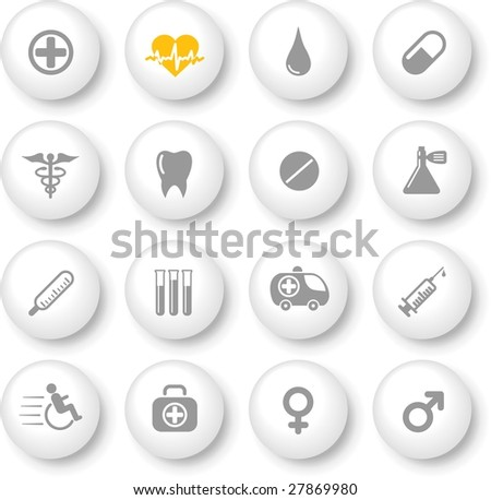 Medical and health care vector icons