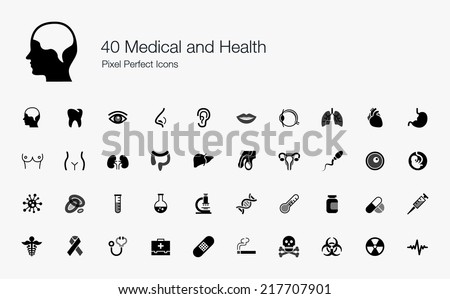Medical and Health Pixel Perfect Icons
