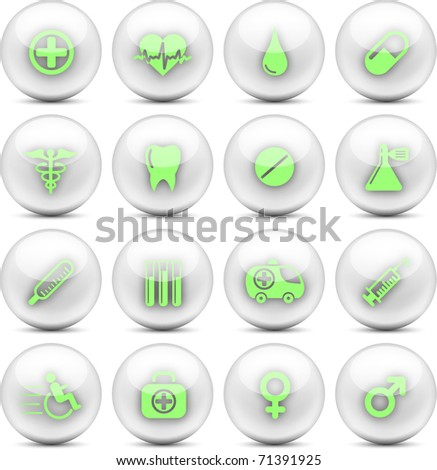 Medical and healthcare vector icons - EPS10