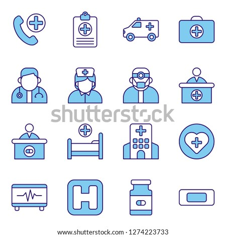Medical and medical staff icons pack. Isolated medical and medical staff symbols collection. Graphic icons element #1274223733