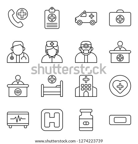 Medical and medical staff icons pack. Isolated medical and medical staff symbols collection. Graphic icons element #1274223739