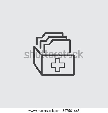 medical archive report icon