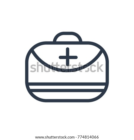 Medical assistance icon. Isolated doctor bag and medical assistance icon line style. Premium quality doctor bag vector symbol drawing medical concept for your logo web mobile app UI design.