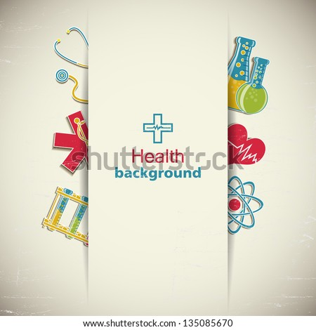Medical background. Vector Illustration, eps 10, contains transparencies.